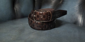 Fashion brown leather belt