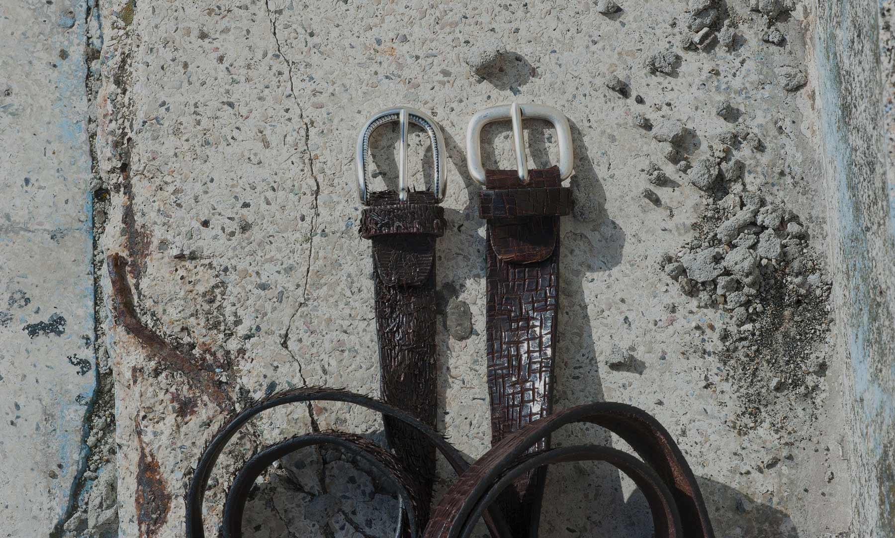 Cinture pelle vintage