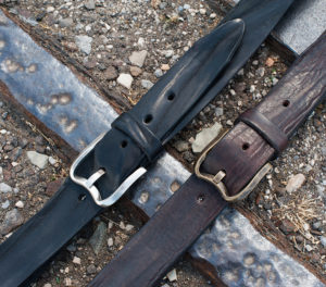 Casual rugged leather belts
