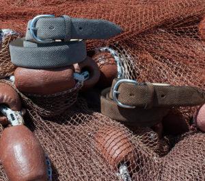 Sporty leather men's belts