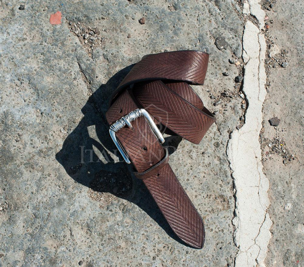 Cintura artigianale pelle marrone