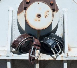 Men's belts with stud